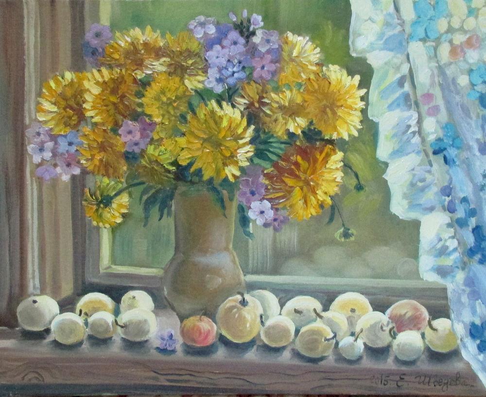 скидка 20%, натюрморт маслом, авторская живопись, купить со скидкой, желтый цвет, купить картину недорого