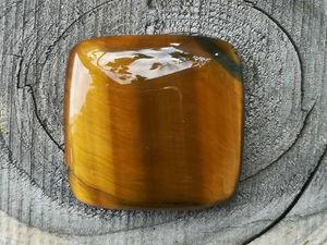 Видео кабошона тигровый глаз 0103. Ярмарка Мастеров - ручная работа, handmade.