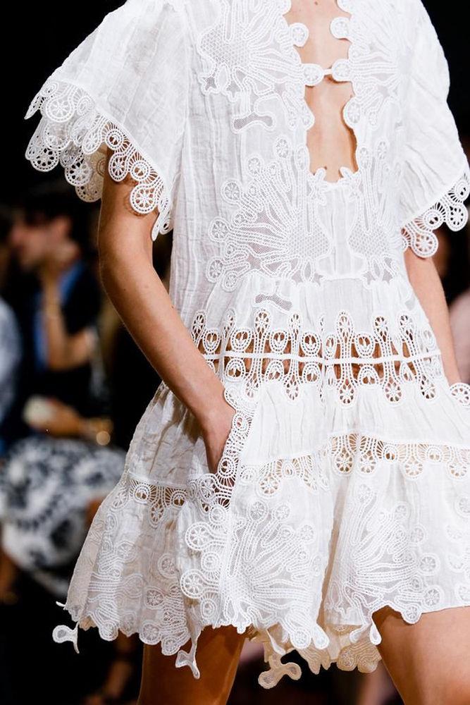 Белое бохо, или Шикарная одежда для королевы летнего пляжа, фото № 95