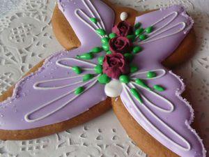 Как рождается бабочка: мастер-класс по росписи пряника. Ярмарка Мастеров - ручная работа, handmade.