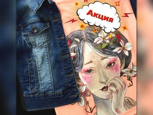 """Акция на Футболочку с Росписью """"Spring Girl"""" всего за 850 рублей!. Ярмарка Мастеров - ручная работа, handmade."""