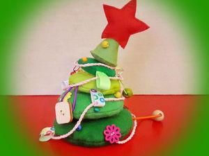 Изготовление новогодней развивающей игрушки «Озорная елочка»: видео мастер-класс. Ярмарка Мастеров - ручная работа, handmade.