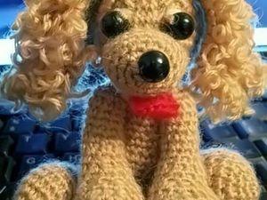 Вязаная собачка. Ярмарка Мастеров - ручная работа, handmade.