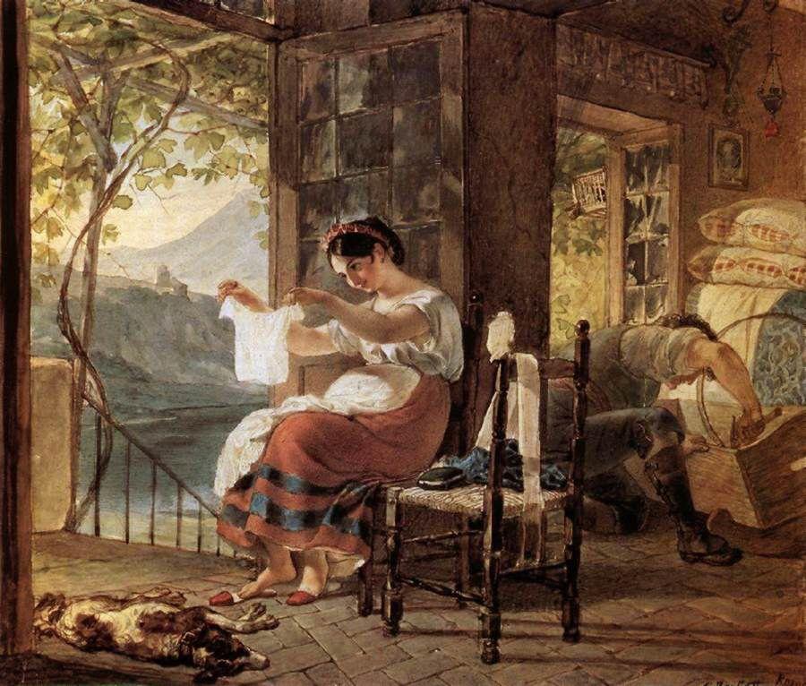 Любовь и творчество Карла Брюллова: образ Юлии Самойловой в работах художника, фото № 9