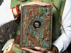 Процесс создания обложки для магической книги Лесной Ведьмы. Ярмарка Мастеров - ручная работа, handmade.