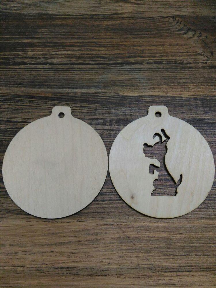 новый год, собаки, заготовки из дерева