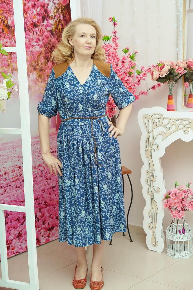 купить летнее платье, синее платье
