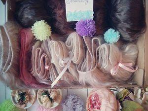 Акция! 1 метр тресса пуха ангорки(волосы для куклы) бесплатно! | Ярмарка Мастеров - ручная работа, handmade