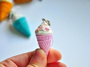 Making a Delicious Ice-Cream Keyring. Livemaster - handmade