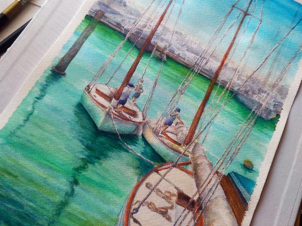 Очередные лодочки и соленая водичка! | Ярмарка Мастеров - ручная работа, handmade