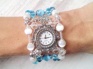 Мастер-класс: часы «Вьюга» на проволоке с памятью. Ярмарка Мастеров - ручная работа, handmade.