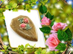 Новинка магазина! Старинная брошь с резными розами!. Ярмарка Мастеров - ручная работа, handmade.