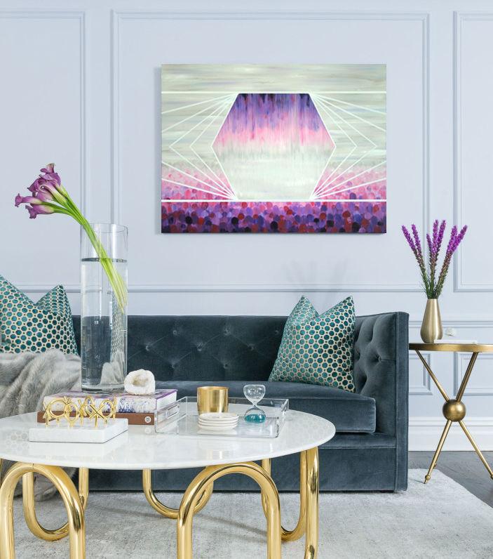 декор интерьера, картина москва