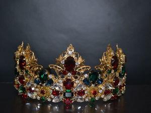 Crown Queen комплект с серьгами | Ярмарка Мастеров - ручная работа, handmade