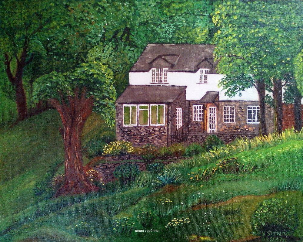 пейзаж, живопись маслом, картина со скидкой, холст на подрамнике