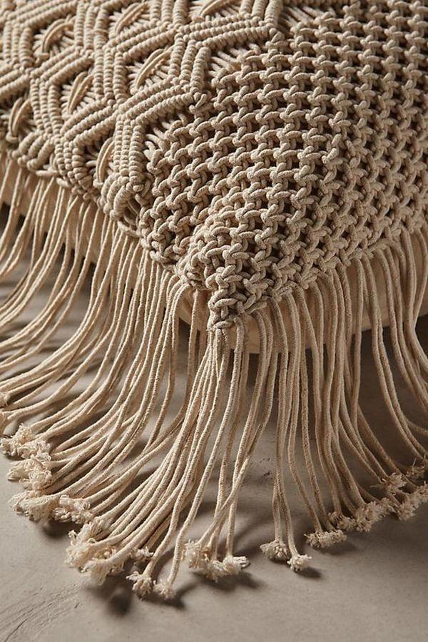 макраме подушка