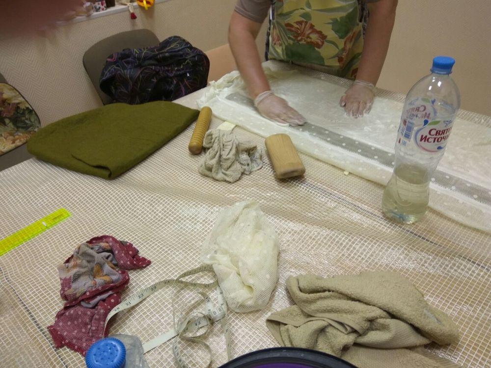 шерсть, валяная сумка, мастер-класс в москве