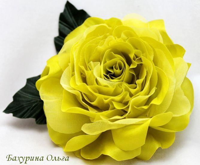 цветы из шелка, бульки