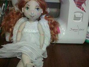 Крепим крылышки к кукле-ангелочку. Ярмарка Мастеров - ручная работа, handmade.