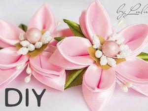 Создаем красивые детские заколки-цветы своими руками: видео мастер-класс. Ярмарка Мастеров - ручная работа, handmade.