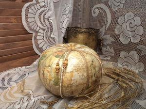 «И превратилась тыква...»: вторая жизнь прошлогодней тыквы из кладовки. Ярмарка Мастеров - ручная работа, handmade.