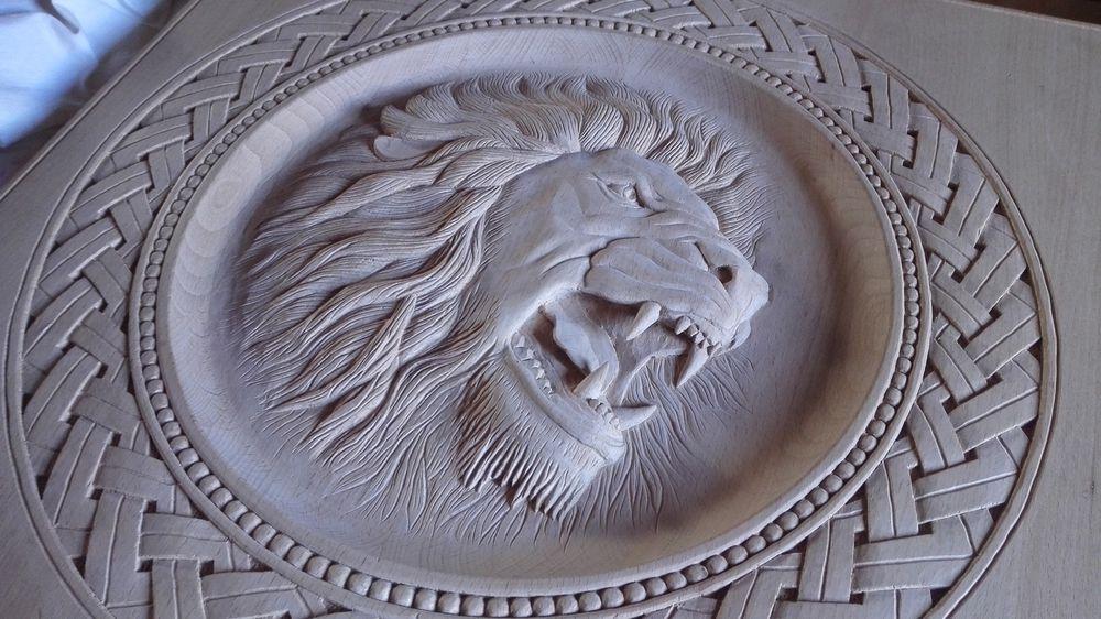 нарды панно, барельеф лев, резьба по дереву