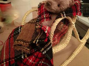 Плетеное Кресло-качалака для мишутки или куколки своими руками | Ярмарка Мастеров - ручная работа, handmade