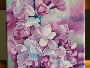 Картина с цветами маленького размера. Ярмарка Мастеров - ручная работа, handmade.