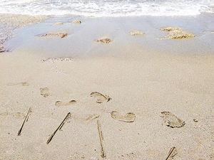 Следы на песке. Ярмарка Мастеров - ручная работа, handmade.