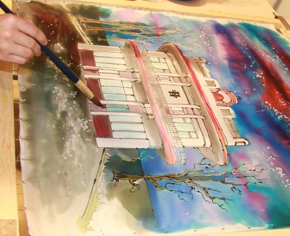горячий батик, холодный батик, батик мастер-классы, роспись тканей, свободная роспись, роспись с загусткой, шибори, роспись по льну, батик хэнд мэйд