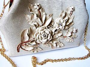 Изготовление сумок. Декор сумки. Ярмарка Мастеров - ручная работа, handmade.