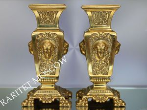 РАРИТЕТИЩЕ Ваза девушка бронза латунь Франция 32   Ярмарка Мастеров - ручная работа, handmade