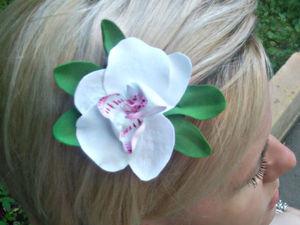 Заколки с орхидеями для подруги. Ярмарка Мастеров - ручная работа, handmade.