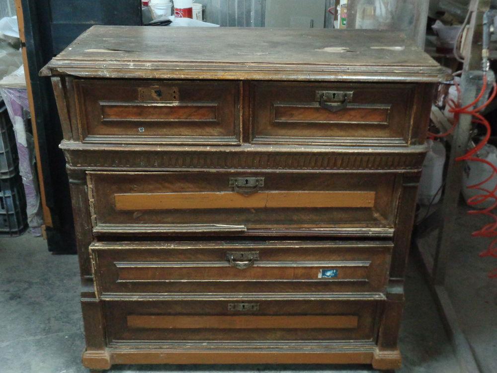 реставрация, комод, мебель из массива, роспись, шпон