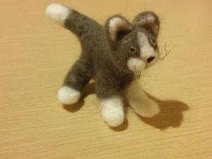 Первый валяный кот. Ярмарка Мастеров - ручная работа, handmade.