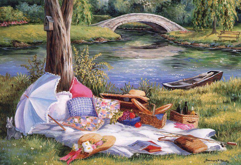 пикник рисунки отдых на природе это сложно