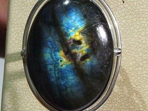 Видео колец с лабрадором спектролитом. Ярмарка Мастеров - ручная работа, handmade.