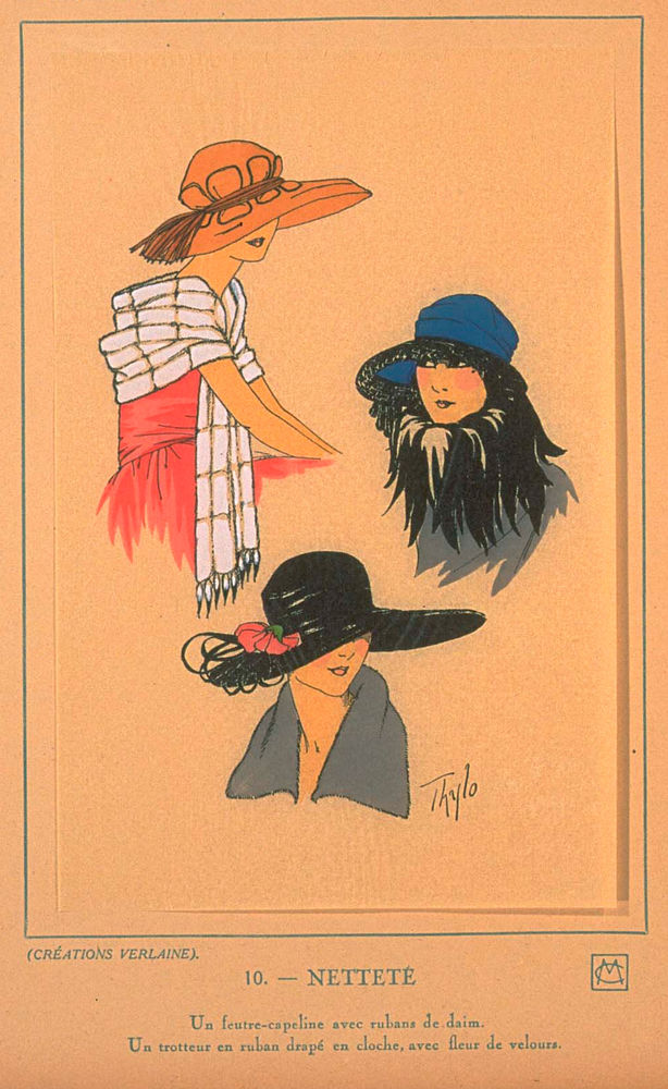 Ах, какие шляпки! Шляпная мода 1922 года по версии французского журнала «Les chapeaux du Tres parisien». Часть 2, фото № 12