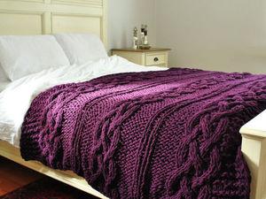 Вязаный уют: пледы и подушки в интерьере. Ярмарка Мастеров - ручная работа, handmade.