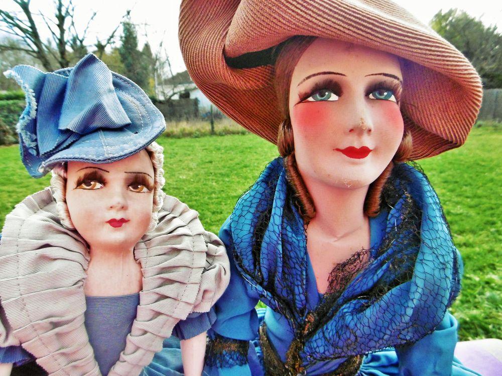старинные будуарные куклы