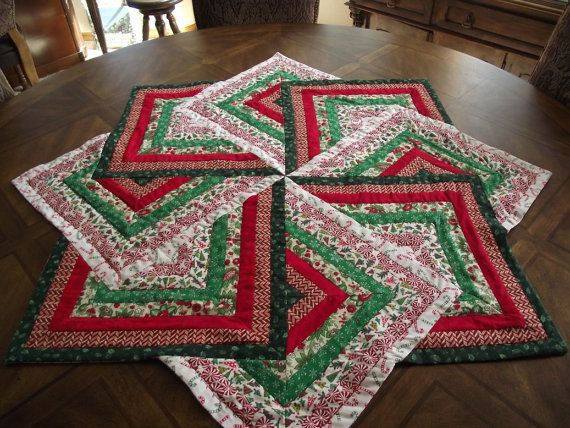 Christmas Table Topper by Sweet Tooth Quilts