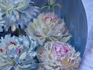 20% скидка на картины с пионами и другими цветами!. Ярмарка Мастеров - ручная работа, handmade.