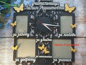 Скидка на любые часы из дерева 10% до 20июня. Ярмарка Мастеров - ручная работа, handmade.