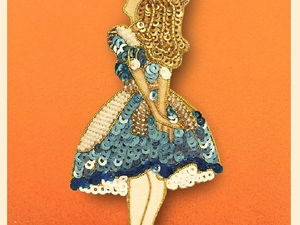 Embroidered Alice in Wonderland Characters by Tilia Embroidery Studio. Livemaster - handmade
