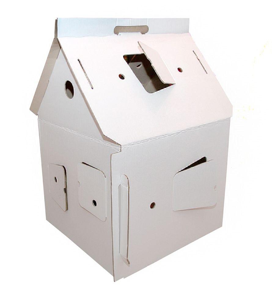 картонный домик, домик из картона, развитие ребёнка, игрушка для ребенка