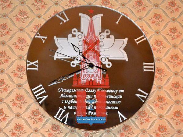 Часы настенные на зеркале Кремлёвские войска   Ярмарка Мастеров - ручная работа, handmade