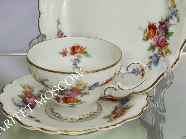 РЕДКОСТЬ Чайная тройка пара золото Rozenthal 15   Ярмарка Мастеров - ручная работа, handmade