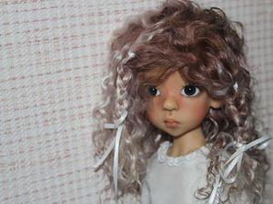 Парик для куклы | Ярмарка Мастеров - ручная работа, handmade