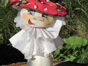 Создаем гриб-мухомор в технике «грунтованный текстиль». Ярмарка Мастеров - ручная работа, handmade.