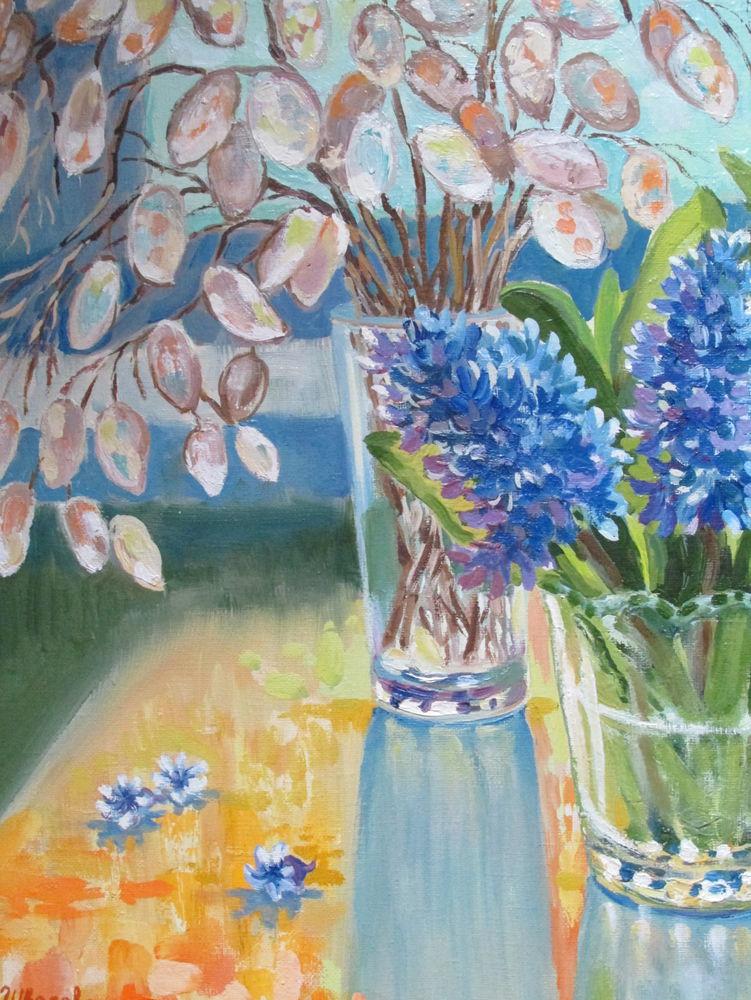 натюрморт маслом, яркие краски, солнечный, яркие цвета, красивая картина купить
